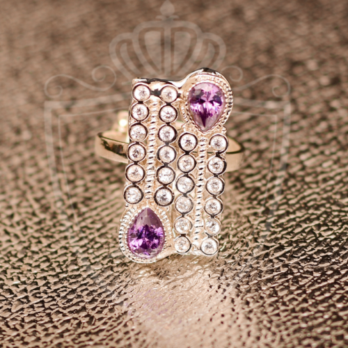 Top Light Purple Zircon Rings
