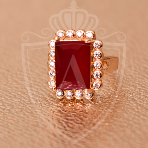 Ruby Gold Plated Ring in Pakistan
