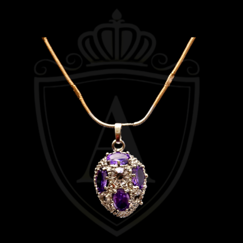 Purple Stone Necklace in Lahore