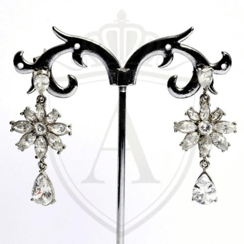 Silver Flower Earrings in Pakistan