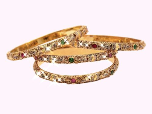 Ruby + Emerald Bangles in Pakistan